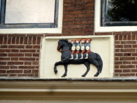 Gevelsteen 'Ruiters' Herengracht Amsterdam. Foto VZE